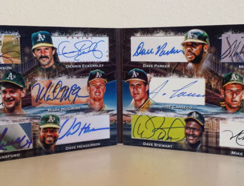 1989 World Series Jumbo Cut Signature Booklet