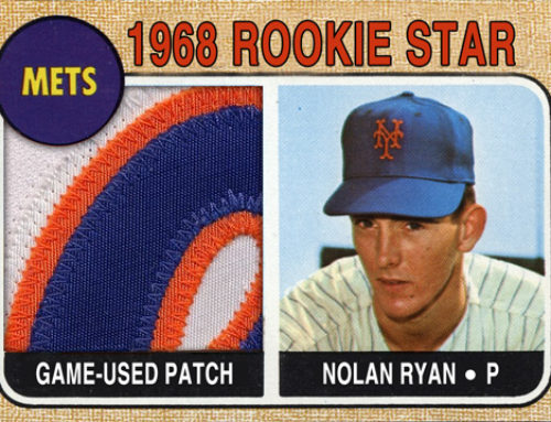 1968 Topps Style Nolan Ryan Patch Card