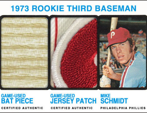1973 Topps Style Mike Schmidt Patch / Bat Card