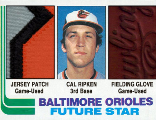 1982 Topps Style Cal Ripken Glove / Patch Card