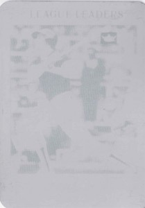 2001 Fleer Platinum 20th Anniversary Reprint Printing Plate 1/1
