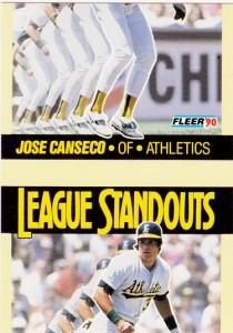 1990 Fleer League Standouts Miscut