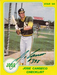 1986 Star Yellow Factory Green Autograph /500