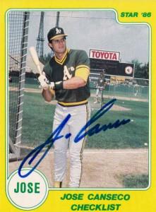 1986 Star Yellow Autograph