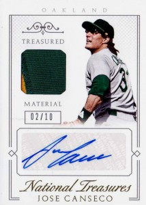 2015 National Treasures Treasured Material Autographed Patch /10