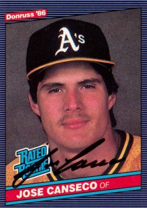 1986 Donruss Rated Rookie Autograph