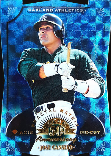 1998 DONRUSS #109 LEAF FRACTAL MATRIX DIAMOND AXIS DIE CUT Executive Sample xx/50