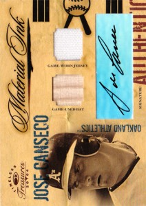 2004 Timeless Treasures Material Ink Bat/Jsy/Auto /25