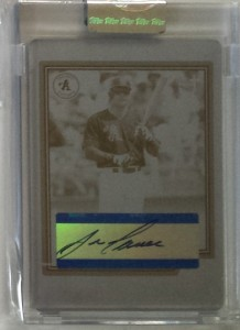 2004 Topps Chrome Retired Printing Plate Autograph #TA-JCA 1/1