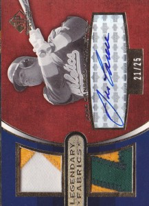 2004 SP Game Used Patch Legendary Fabrics Autograph Dual #ALF-JC /25