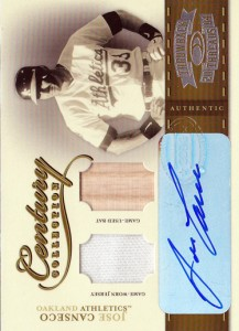 2004 Throwback Threads Century Collection Jersey/Bat/Autograph /25