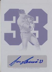 2012 Leaf Legends of Sport Cyan Printing Plate Autograph 1/1