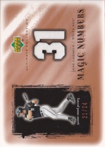 2001 Ultimate Collection Magic Numbers Jersey /24