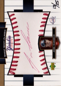 2003 Sweet Spot Classic Yankee Greats Red Ink Autograph /25