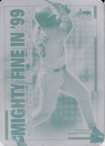 2000 Skybox Impact Mighty Fine in '99 Printing Plate 1/1