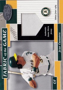 2002 Leaf Certified Fabric of the Game Home Base Jersey /85