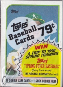 1989 Topps #500 Cello Pack