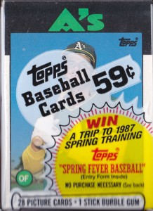1986 Topps Traded #20T Cello Pack Custom