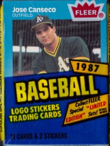 1987 Fleer #389 Cello Pack