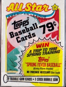 1989 Topps #401 Cello Pack