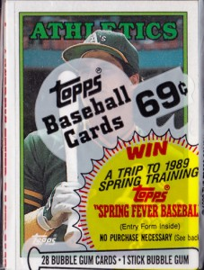 1988 Topps #370 Cello Pack