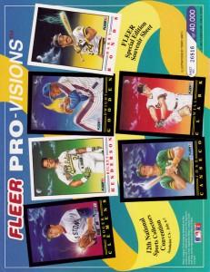 1991 Fleer Pro Vision Promo Sheet
