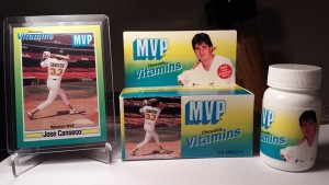 1989 MVP Chewable Vitamins Box, Bottle & Card Custom