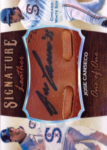 2001 Signature Leather Sweet Spot Style Custom Autograph