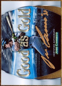 2015 Good as Gold Gold Ink Autograph Custom