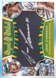 2015 Between the Stitches Silver Ink Autograph Sweet Spot Style Custom