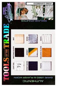 2004 Absolute Memorabilia Tools of the Trade 9x Relic Patch Jumbo Custom