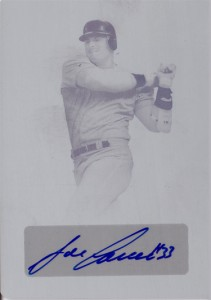 2013 Leaf National Convention Printing Plate Cyan Autograph 1/1