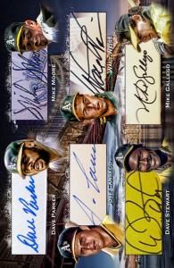 1989 World Series Jumbo 12x Signature Booklet Right Side Custom