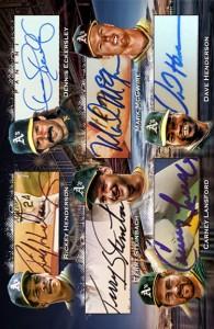 1989 World Series Jumbo 12x Signature Booklet Left Side Custom