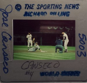 1989 Sporting News World Series Richard Pilling Original Slide