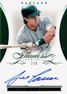 2016 FLAWLESS SIGNATURES Emerald Autograph /5