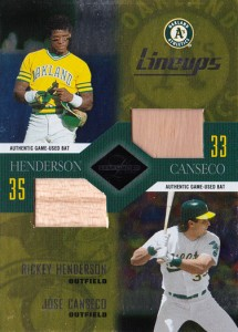 2003 Leaf Limited Lineups with Rickey Henderson Double Bat /50