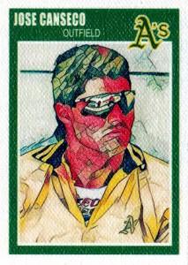 1989-90 Fleer Basketball Custom on Canvas