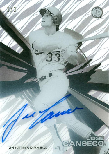 2015 Topps High Tek Autograph Black Printing Proof 1/1