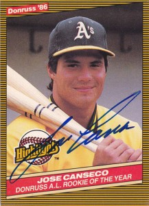 1986 Donruss Highlights #55 Autograph