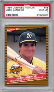 1986 Donruss Highlights #55 PSA 10