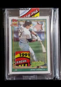 1991 Topps #700 Bubblegum Wax Relic Custom