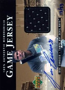 2000 Upper Deck Game Jersey Autograph Gold Away Numbered /33