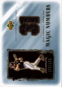 2001 Ultimate Collection Magic Numbers Game Jersey /150