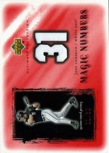 2001 Ultimate Collection Magic Numbers Game Jersey Red /30