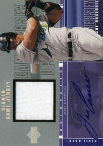2001 Upper Deck S1 Game Jersey Autograph S1