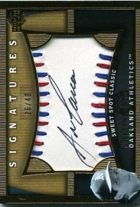 2005 Sweet Spot Classic Signatures Red-Blue Stitch Autograph /40