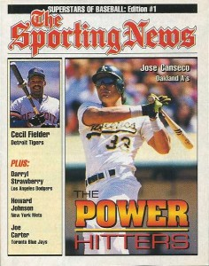1992 Sporting News Superstars of Baseball Edition #1 The Power Hitters