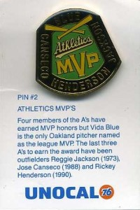 1990 Unocal Pin MVPs