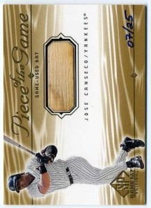 2001 SP Game Bat Edition Piece of the Game Gold /25